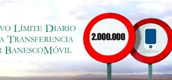 Venezuela: Banesco aumentó límites para operaciones en BanescoMóvil