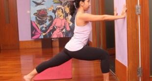 Sehat alami- Yoga untuk pelari - Step 2 - Lunge on the wall