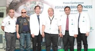 (Ki-ka : Dr. Radja Simanjuntak SpAn, MM – Ketua MedDocs and Friends Indonesia, Suherli  – Asisten Direktur Harley Owners Group Jakarta Chapter, Dr. Johan A. Hutauruk, SpM – Presiden Direktur JEC Korporat dan Direktur Utama JEC @ Kedoya, Dr. Setiyo Budi Riyanto, SpM, Dr. Cosmos O. Mangunsong, SpM, Dr. Ferdiriva Hamzah, SpM – Direktur JEC @ Cibubur).