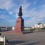 Der Kosakenführer Jakow Pochabow als Gründer von irkutsk