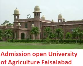Admission open University of Agriculture Faisalabad