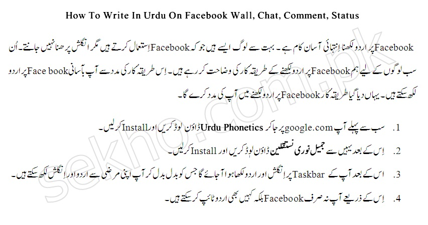 write in urdu