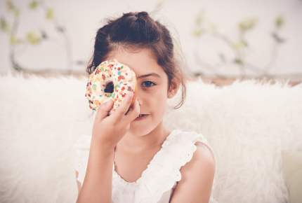 Girl with doughnut