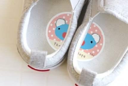 ペネロペの靴用ステッカーで、左右の間違いを防止! テレビでは新シリーズがはじまるよ