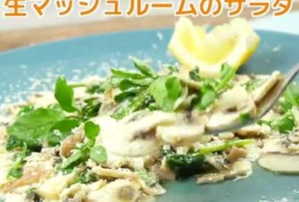 【レシピ動画】生マッシュルームのサラダ