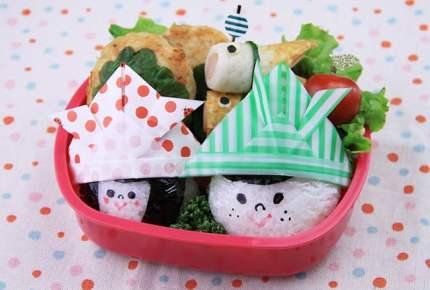 子供の日レシピ☆似顔絵おにぎり弁当