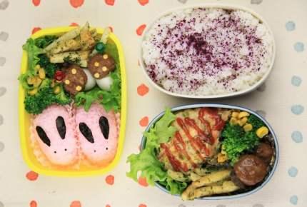 【子どもとパパのお弁当レシピ】うさぎさん弁当