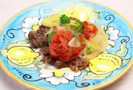 夏の楽ちんレシピ!フライパンで具を重ねて煮込むだけ♪イタリア風肉じゃが
