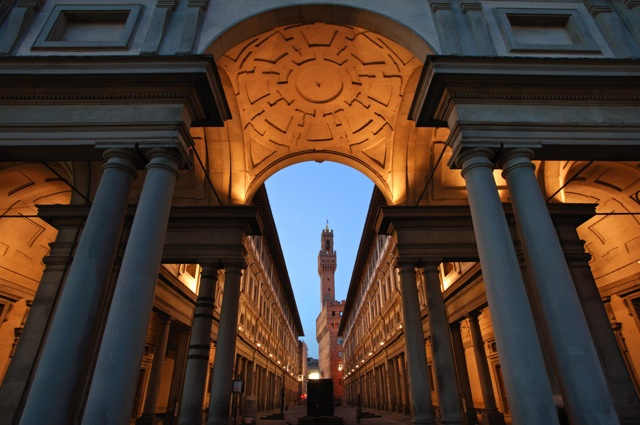 Uffizi Museum by Night