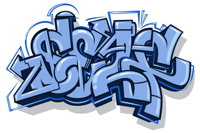 self selfuno graffiti letter piece sketch digital illustration blue moon connection september 2014