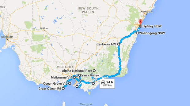 melbourne to sydney road trip stops - photo#16