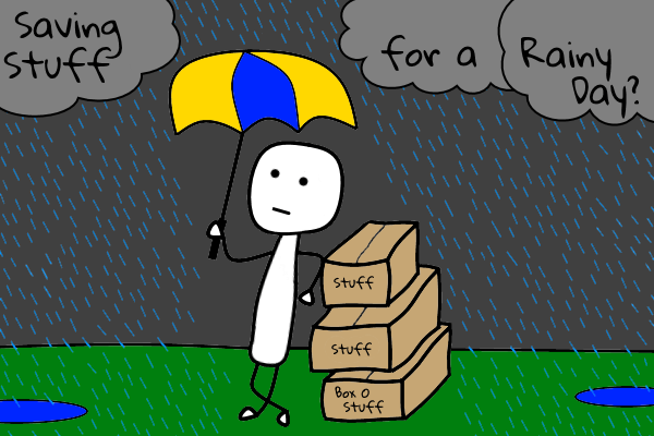 rainy day stickman by sellallyourstuff.com