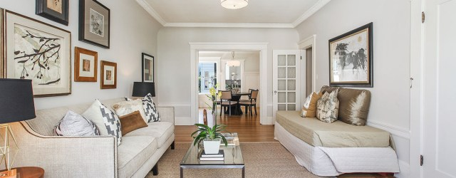Spacious Pacific Heights condo in well-maintained elevator building. Classic 1916 details include bay windows, high coved ceilings, crown and picture molding, ample closets, pocket doors, period stained-glass window, and recently […]