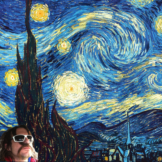 starry night selfie
