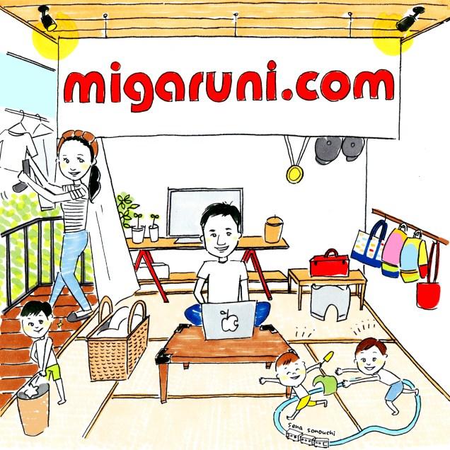 Blog『migaruni.com』ヘッダー・アイコンデザイン2018年2月