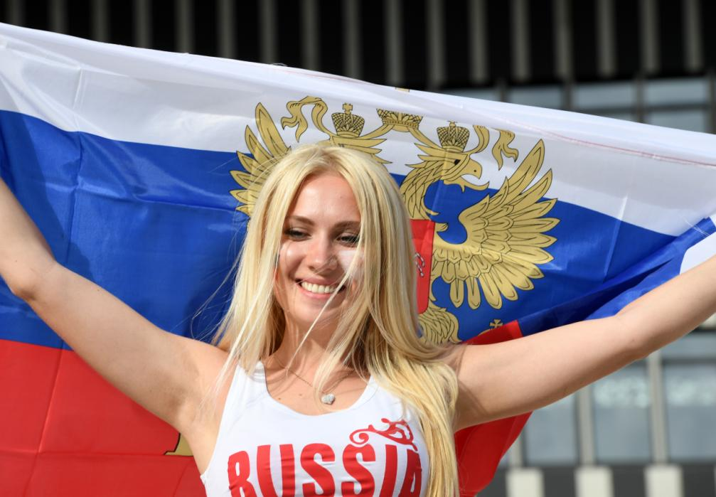 A Russia fan is pictured before the start of the Euro 2016 group B football match between England and Russia at the Stade Velodrome in Marseille on June 11, 2016. / AFP PHOTO / BORIS HORVAT