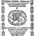 Beware the Cat, Title Page