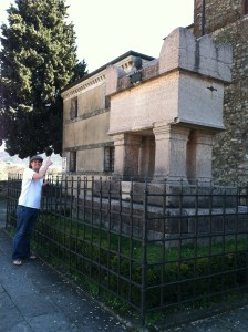 Excited to visit Petrarch's Grave in Arqua Petrarca.