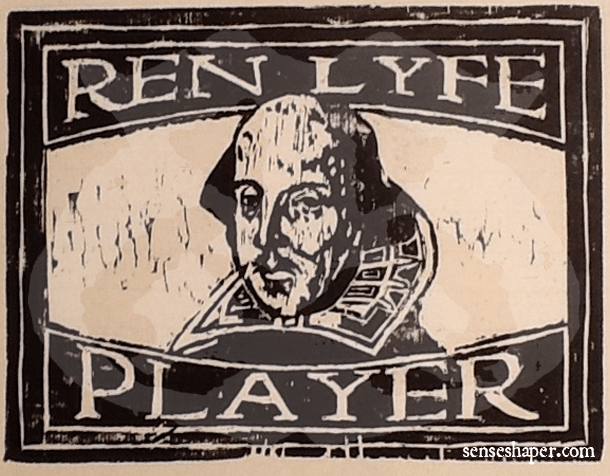 Senseshaper-RenLyfe-Woodcut-Shakespeare-Player-Print