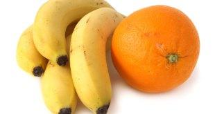 الموز مقابل البرتقال