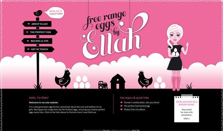 Eggs hace un uso espectacular del rosa en su web