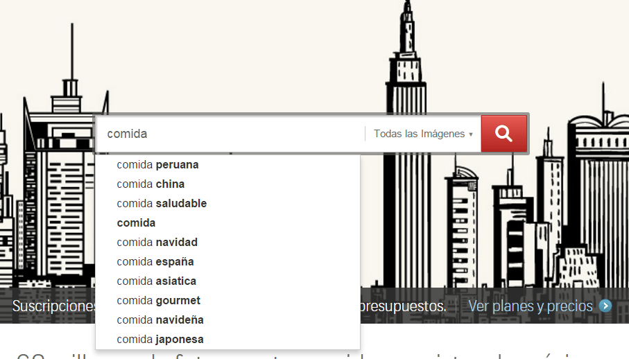 Buscar palabras clave relacionadas en Shutterstock