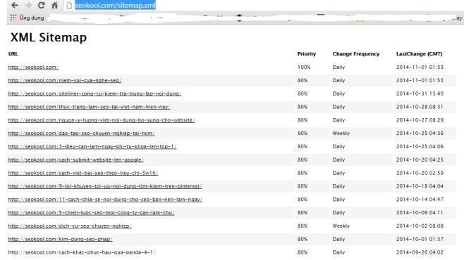 Google webmaster tool sitemap xml