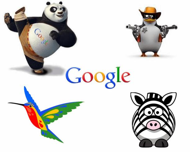 các thuật toán của google