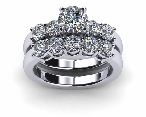 matching wedding engagement diamond rings sets wedding sets Halo