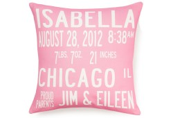 Compelling Custom Birth Announcement Pillow Custom Birth Announcement Pillow Featured At Custom Throw Pillows Nyc Custom Throw Pillows Online