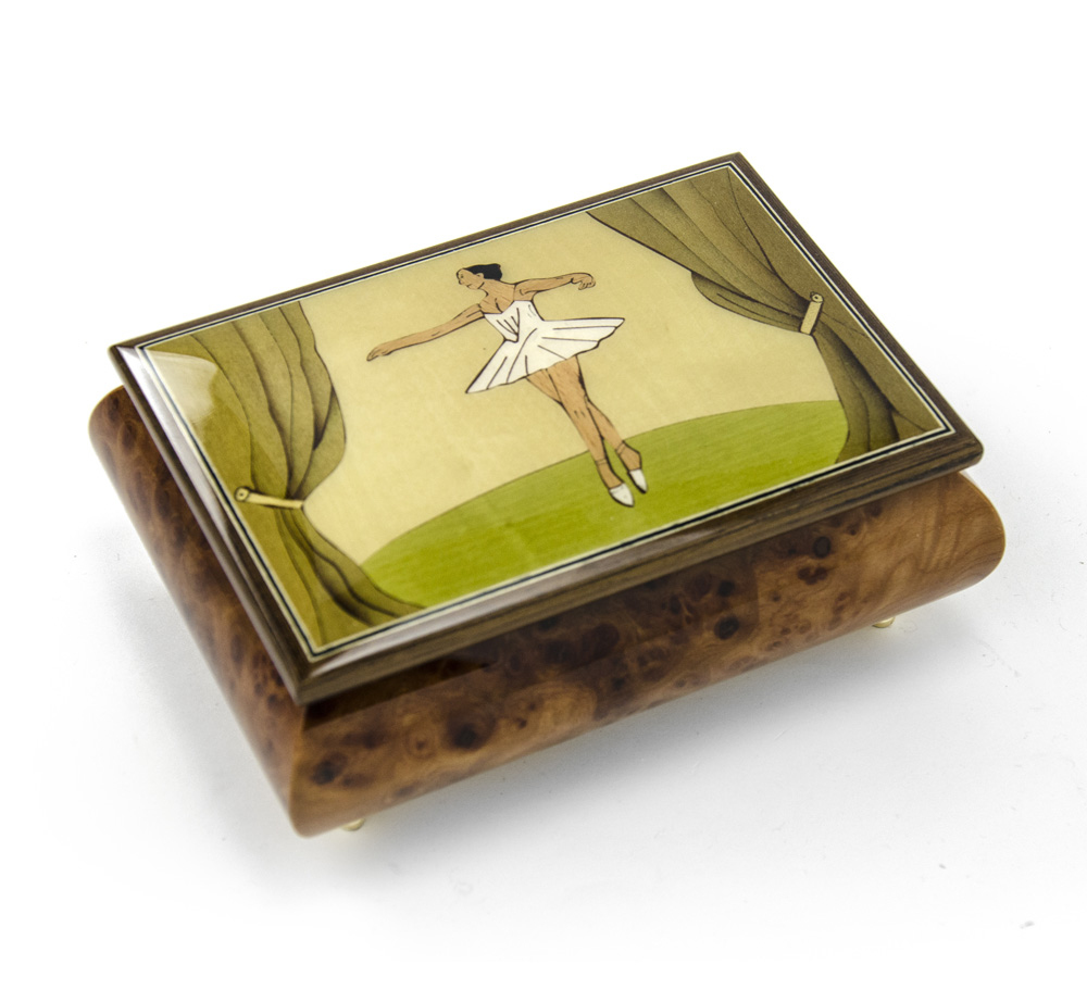 Decent Ballerina On Stage Hand Inlaid Sorrento Quality Music Box Custom Personalized Musical Boxes Gifts Since Musicboxattic Coupon Music Box Attic Tune List houzz-03 Music Box Attic