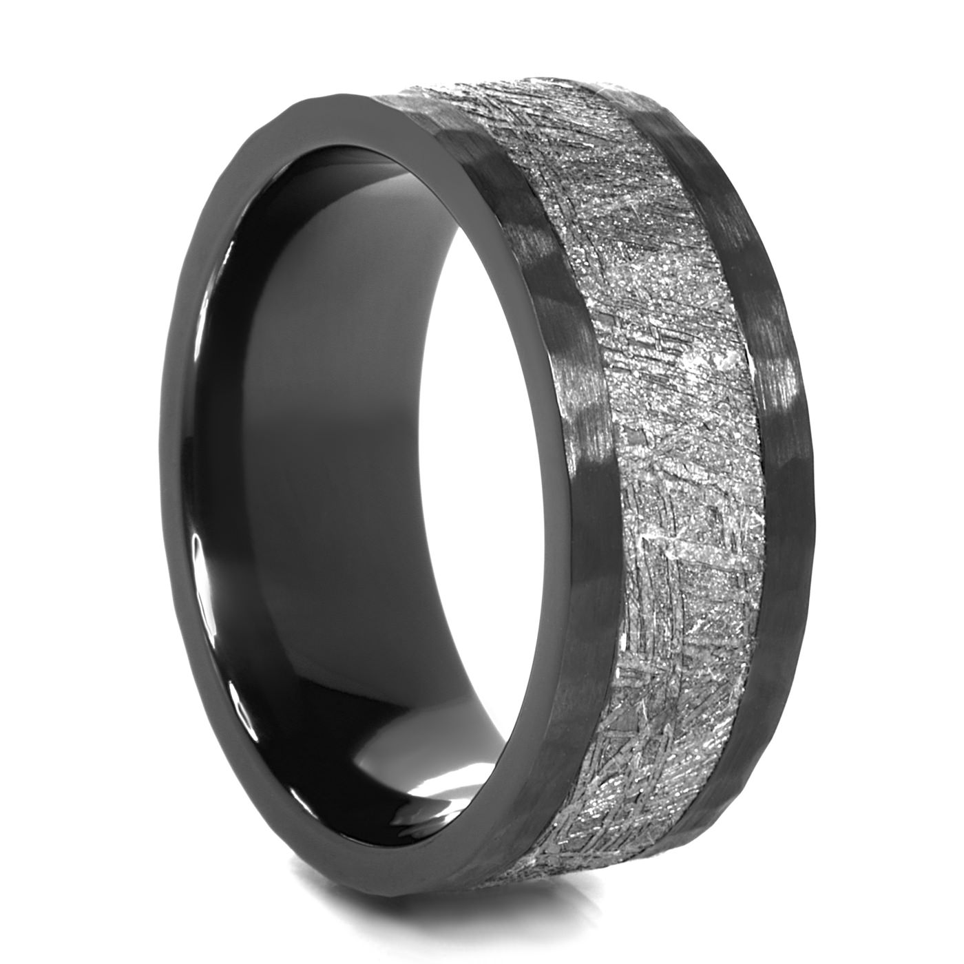 hammer meteorite ring meteorite wedding ring