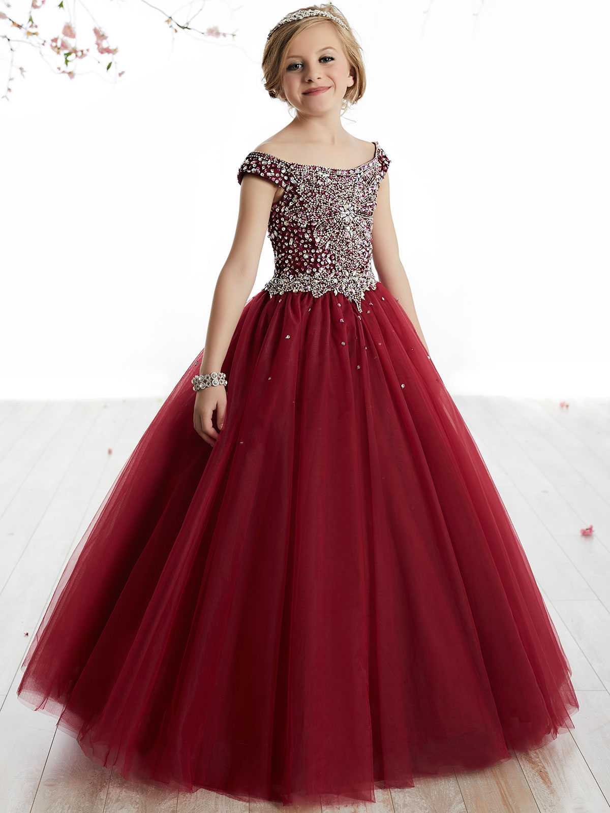 Staggering Tiffany Princes Off Shoulder Pageant Dress Tiffany Princess Off Shoulder Ball Gown Dress Pageant Dresses Girls Near Me wedding dress Pageant Dresses For Girls