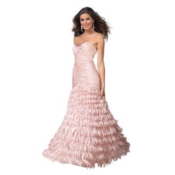 Smothery Ruched Mermaid Prom Dress Clarisse Prom Dress Light Pink Trumpet Formal Dress Front Slit Pink Prom Dress Sleeves Pink Prom Dresses