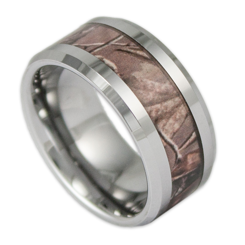 camo wedding band mens camo wedding band Mens Wedding Band Camo with Antler Ring Staghead Designs