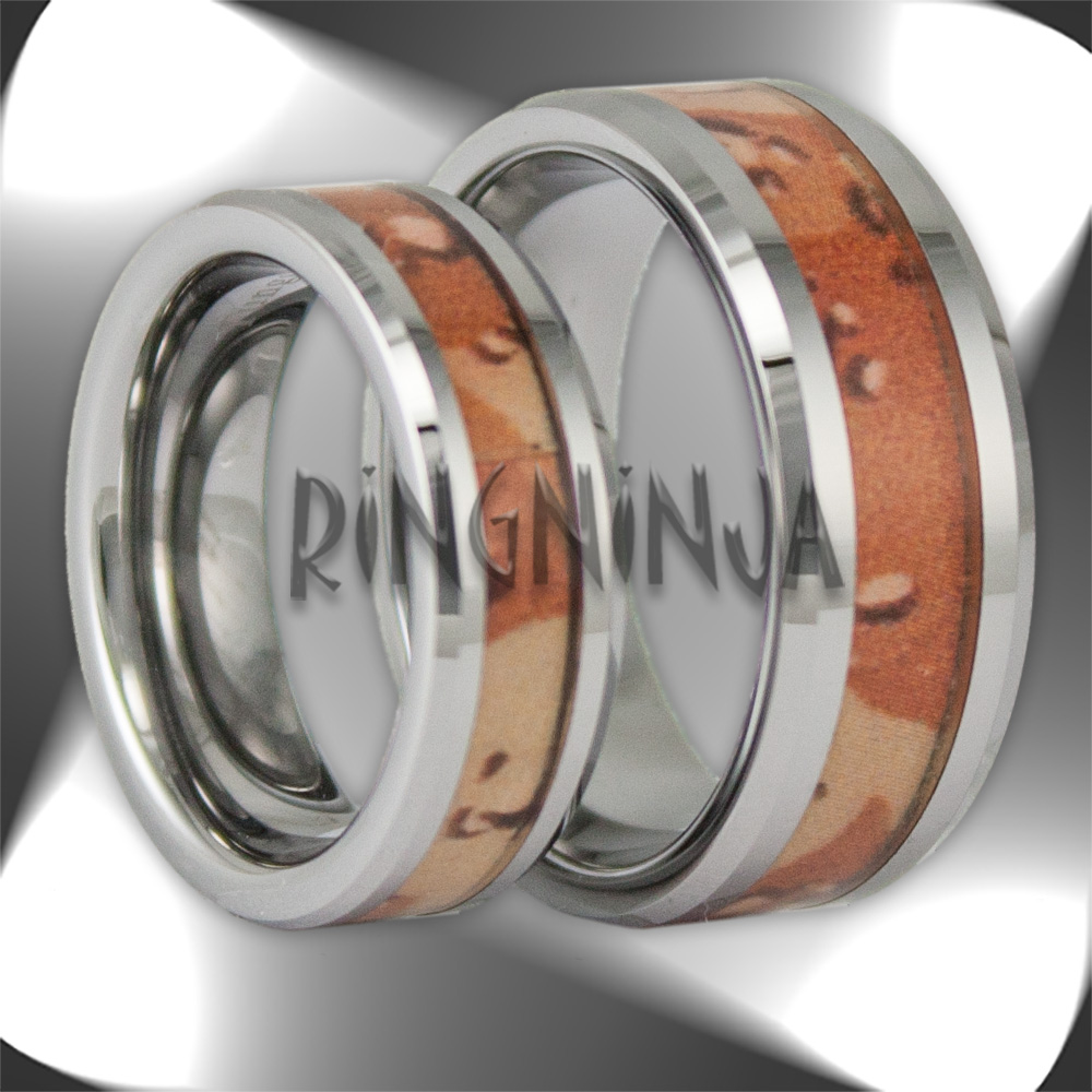 camouflage wedding ring sets Fable Designs Black Zirconium with Mossy Oak New Break up Camouflage Inlay Wedding Band Size 10 camo wedding ring sets