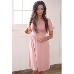 Small Crop Of Dusty Rose Dress