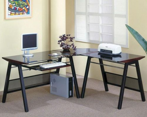 Medium Of Desk With Keyboard Tray
