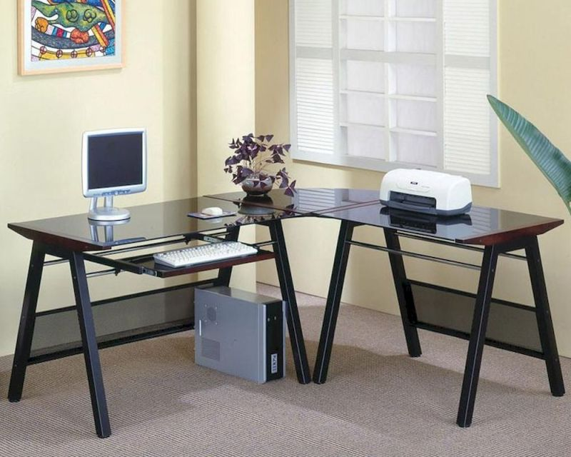 Large Of Desk With Keyboard Tray
