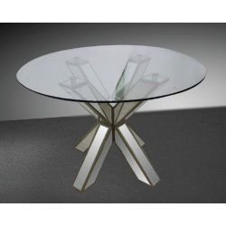 Small Crop Of Round Glass Dining Table