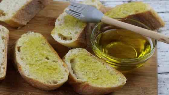 Cantaloupe Prosciutto Bruschetta Process 2