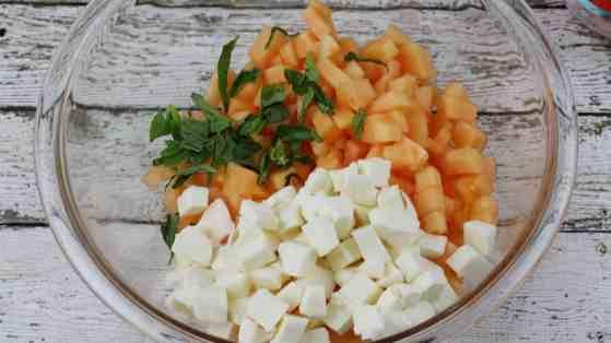 Cantaloupe Prosciutto Bruschetta Process 9