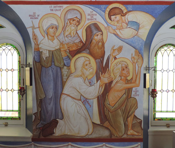 Ascetics: Sts Brigid, Anthony, Siloan, Seraphim, and Mary (of Egypt)