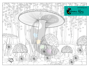 Magic Mushrooms Coloring Page