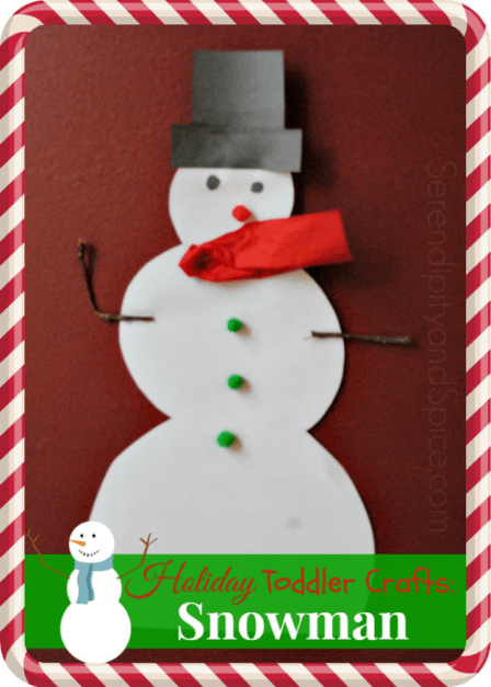 Holiday Toddler Crafts: Snowman