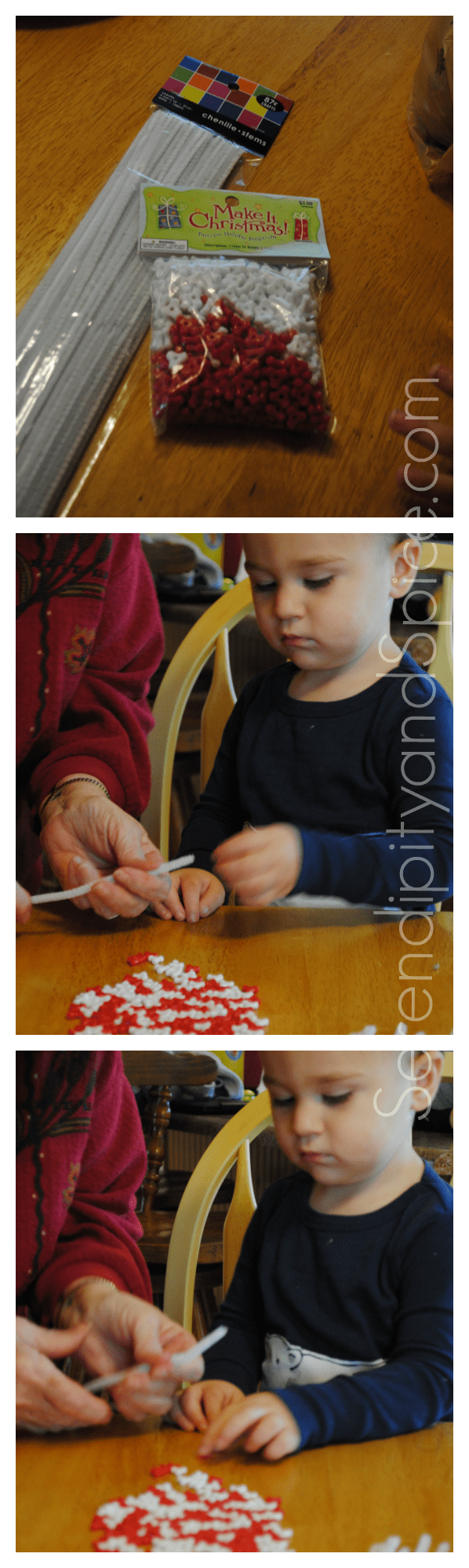 toddler craft candy canes