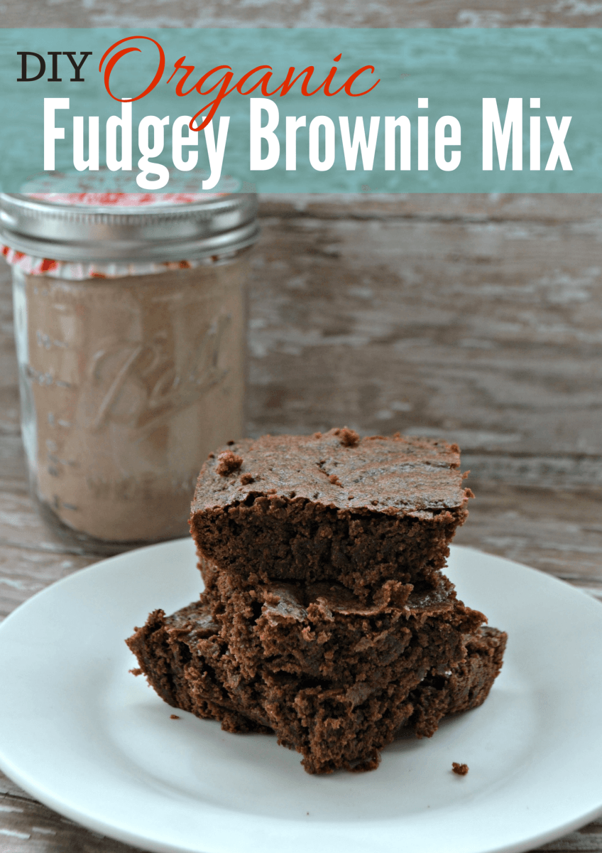 The BEST Organic Brownie Mix Recipe