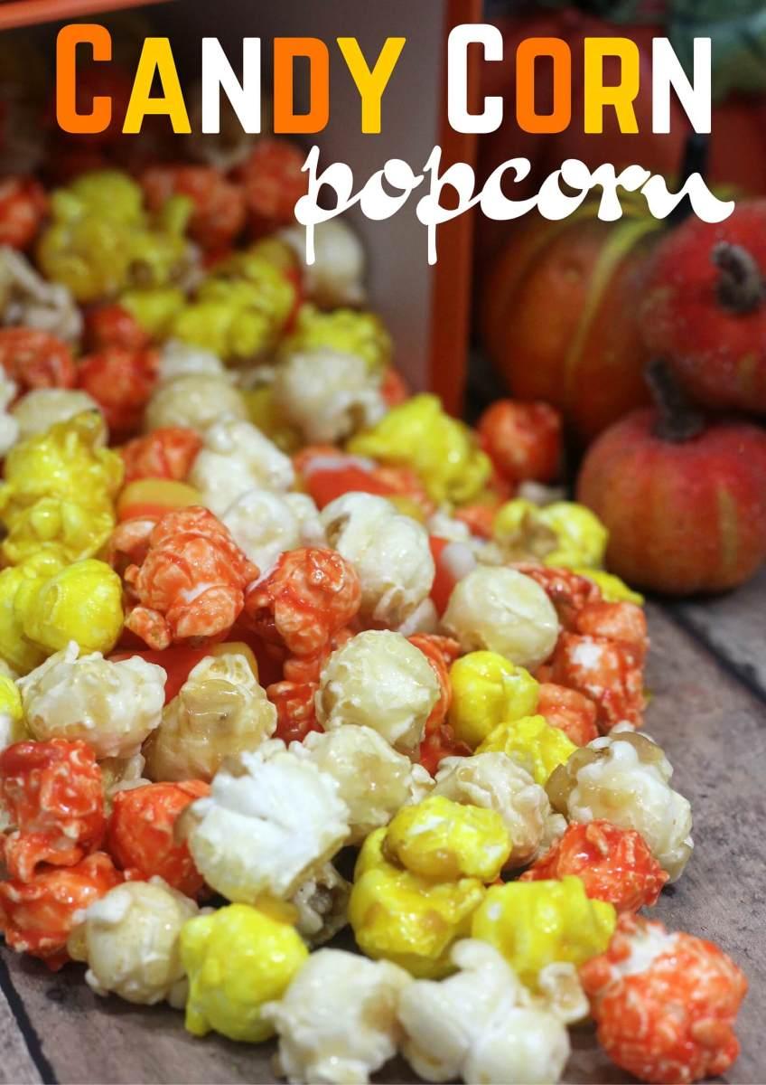 Candy Corn Fall Popcorn Recipe