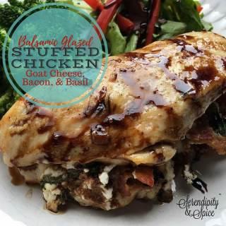 Balsamic Glazed Stuffed Chicken Recipe