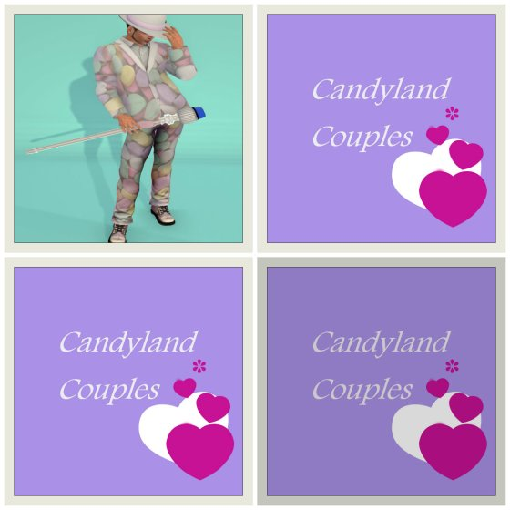collage candyland couples